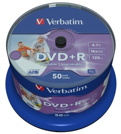 Verbatim DVD+R AZO 4.7GB 16x Printable 50P Spindle
