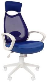 Офисный стул Chairman 840, синий/белый