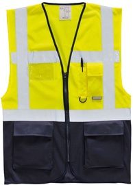 Pesso Vest LSGMP With Zipper Yellow/Navy XL