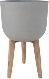 Вазон Home4you Sandstone 72429, серый, 360 мм