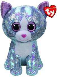 TY Beanie Boos Flippables Sequin Blue Cat 42cm