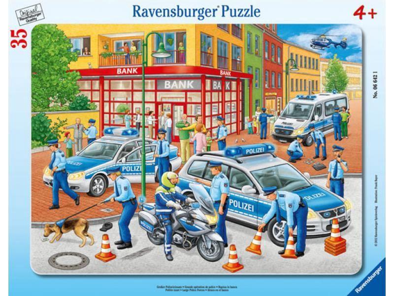 Ravensburger Frame Puzzle Great Police Operation 35pcs 066421