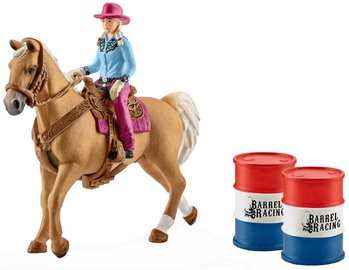 Žaislinė figūrėlė Schleich Barrel Racing With Cowgirl 41417