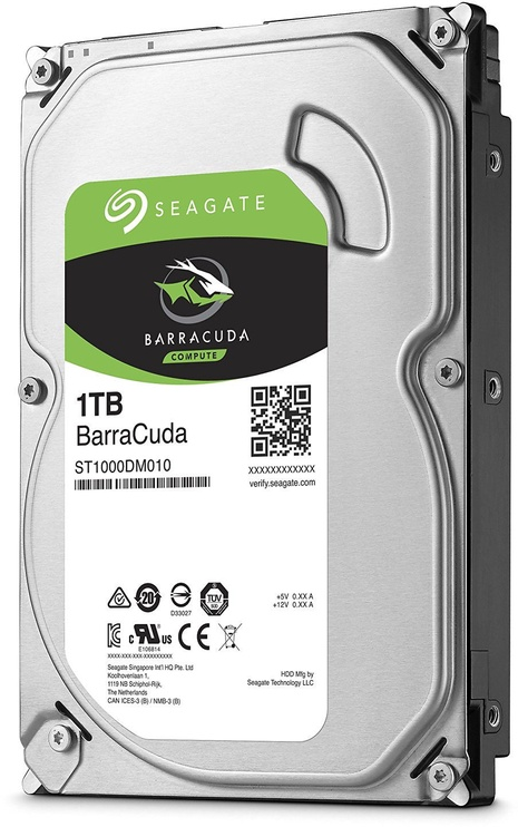 Seagate BarraCuda 1TB 7200RPM SATA III 64MB ST1000DM010
