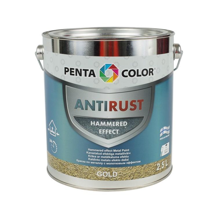 Krāsa metāla virsmām Pentacolor zelta 2,5l