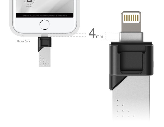 Silicon Power Z50 32Gb USB 3.0 Black Silver