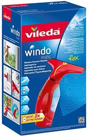 Vileda Windo Matic Window Vacuum Cleaner Red