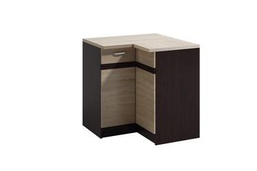 Нижний кухонный шкаф WIPMEB Livia LV-12/D90 N Right Sonoma Oak, 900x900x820 мм