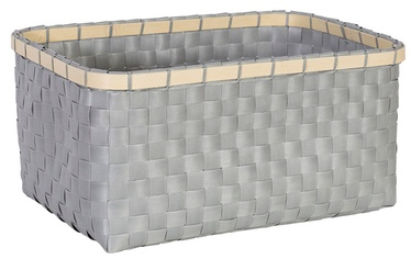 Home4you Basket Lido 3 28x19xH13cm Grey