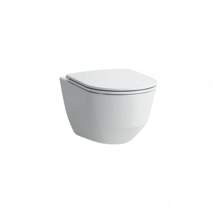 Sienas tualete Laufen Rimless H8669570000001, ar vāku, 360x530 mm