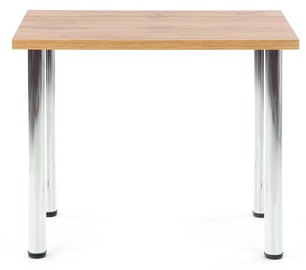 Обеденный стол Halmar Modex 90, хромовый/дубовый, 900x600x750мм