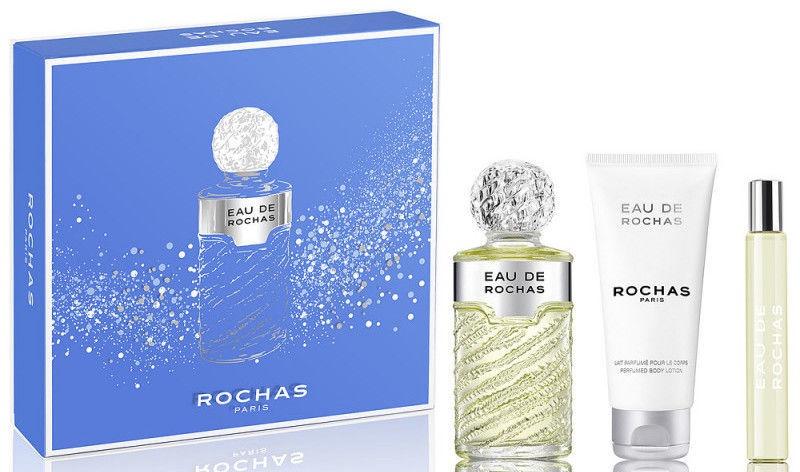 Набор для женщин Rochas Eau de Rochas 100 ml EDT + 100 ml Body Lotion + 20 ml EDT
