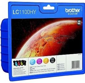 Brother LC-1100HY Cartridge Black 21.6ml Yellow 10.1ml Cyan 10.1ml Magenta 10.1ml