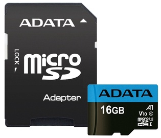 Adata 16GB Micro SDHC Premier UHS-I A1 V10 Class 10 + Adapter