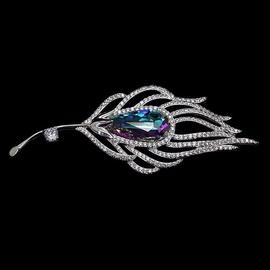 Diamond Sky Brooch Crystal Branch With Swarovski Crystals