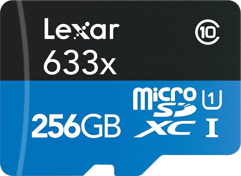 Lexar High-Performance 633x 256GB microSDXC UHS-I Class 10 + Adapter