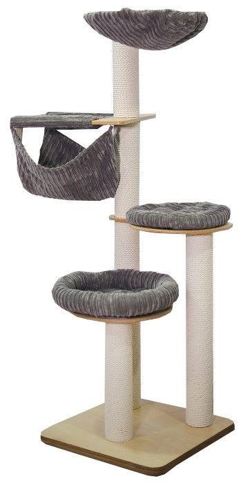 Когтеточка для кота Luxucat Cotton Rope Grey SK19