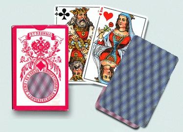 Piatnik Russian Standard Playing Cards Blue 55pcs