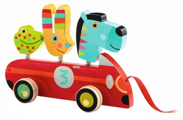 Djeco Pull Along Toys Zebra And Co