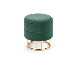 Пуф Halmar Minty, золотой/зеленый, 37x37x41 см