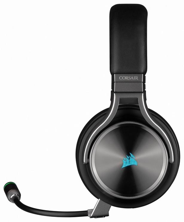 Belaidės ausinės Corsair Virtuoso RGB Wireless SE Black