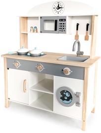EcoToys XXL Wooden Kitchen White 214337