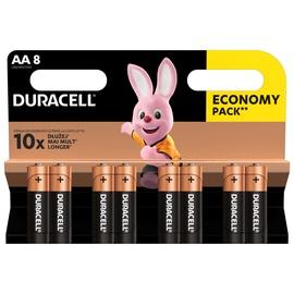 Duracell Alkaline Batteries AA LR6 8pcs