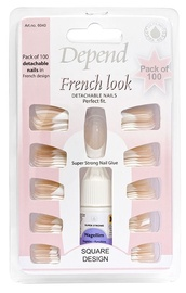 Depend French Look 100pcs Detachable Nails & Glue