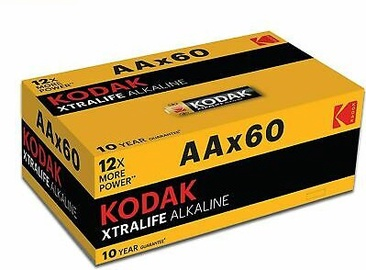 Батарейка Kodak Xtra Life, 1.5V, 1.5 В, 60 шт.