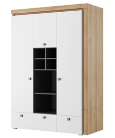 Szynaka Meble Riva 1 Wardrobe White/Oak