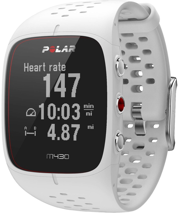 Polar M430 GPS Running Watch White