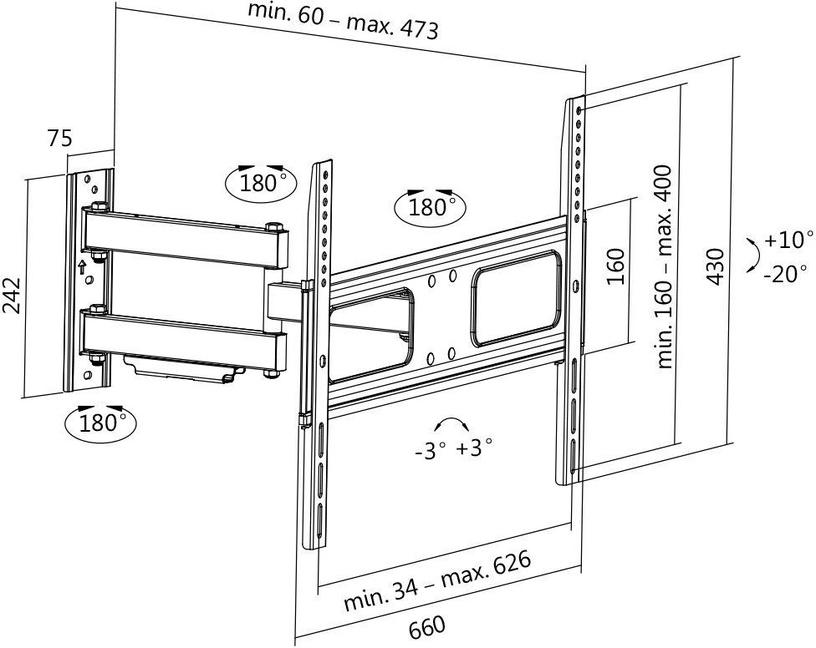 "Logilink BP0019 TV Wall Mount 37–70"""