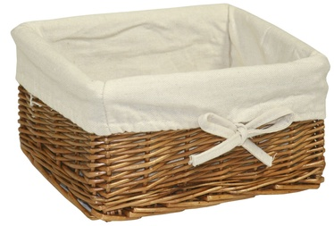 Home4you Basket Max 2 24x18xH12cm Light Brown