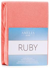 Palags AmeliaHome Ruby, oranža/rozā, 220x200 cm, ar gumiju