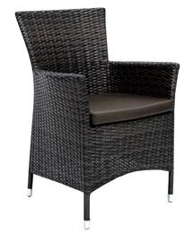 Home4you Wicker 1 Garden Chair Dark Brown