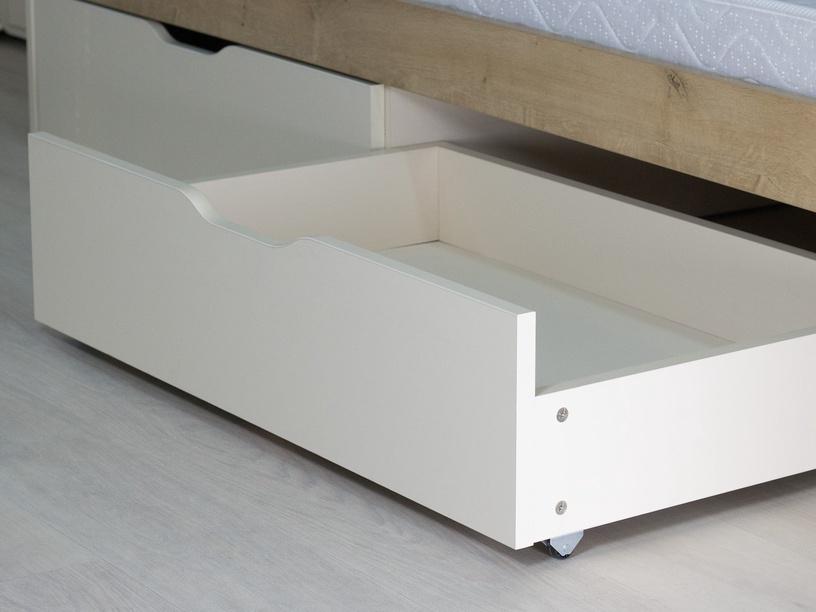 Bērnu gulta DaVita Fristail 56.11 Oak/Cream, 204x94 cm