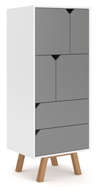 Vivaldi Meble Tokio TK4 Wardrobe White/Grey Mat
