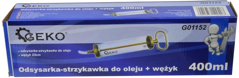 Geko Oil Suction Gun Transparent With Hose 400ml