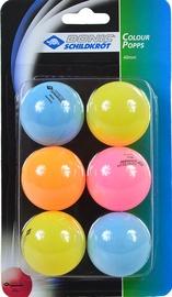 Donic Color Ping Pong Balls 6pcs
