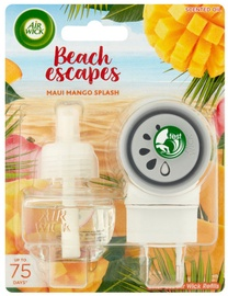 Õhuvärskendaja Air Wick Electrical Beach Escape Maui Mango Splash Complete, 19 ml