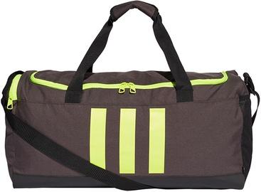 Adidas Essentials 3 Stripes Duffel Bag Medium GN2047 Grey/ Green