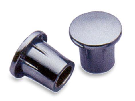 Laikomojo strypo antgaliai JB406F, matinio nikelio spalvos, 19 x 18 x 18 mm, 2 vnt.