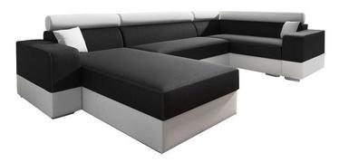 Stūra dīvāns Idzczak Meble Infinity Super Black/Beige, 332 x 185 x 93 cm