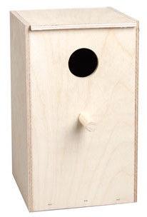 Flamingo Wooden Nest Box For Parakeets 100810 Beige