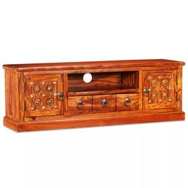 TV-laud VLX Solid Sheesham Wood, pruun, 1200 mm x 300 mm x 400 mm