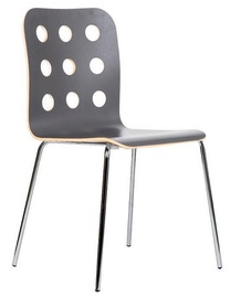 Black Red White Stop Cantona Chair Grey