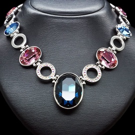 Diamond Sky Necklace Charming Glitter With Swarovski Crystals