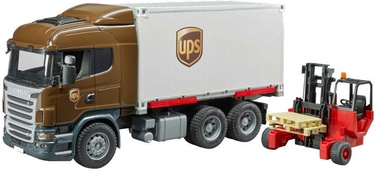 Bruder Scania R-Series UPS Logistics Truck With Forklift 03581