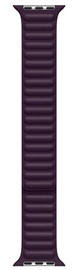 Ремешки Apple 45mm Dark Cherry Leather Link - S/M, фиолетовый
