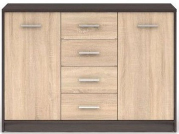 Black Red White Chest Of Drawers Nepo Plus Wenge/Sonoma Oak